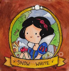 Snow White - Signed Watercolor Print