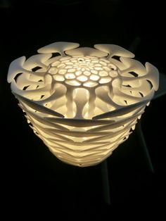 "3D printed lamp on Purmundus booth at  at ""Inside 3D printing"" in Berlin, March 2014"