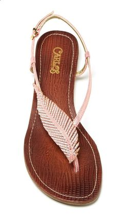 Beautiful Feather Sandals
