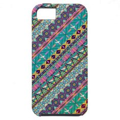 Colorful Hipster Aztec Seamless Tribal Pattern 2 iPhone 5 Case