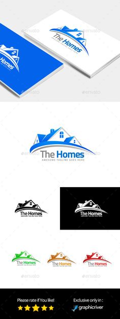 The Homes � Logo Design Template Vector #logotype Download it here:  http://graphicriver.net/item/the-homes-logo-template/12961905?s_rank=127?ref=nexion