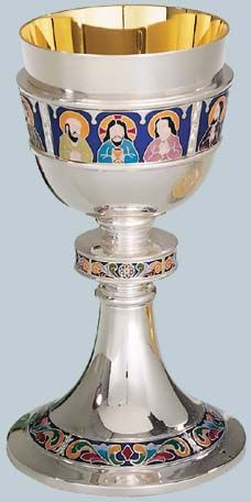Chalice by Artistic Silver from Henninger's Religious Goods in Cleveland Altar, Religious Books, Last Supper, Wine Goblets, Sacred Art, Nautilus, Chen, Cleveland, Artist