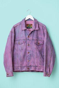 Vintage 90's Purple Denim Jacket