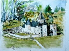 A watercolour painting I did one Autumn in the Loire Region of France. Post picture