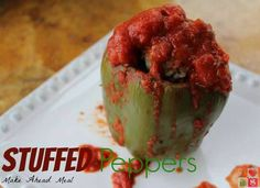 Slow Cooker Stuffed Peppers {#12DaysOf Slow Cooker Meals}