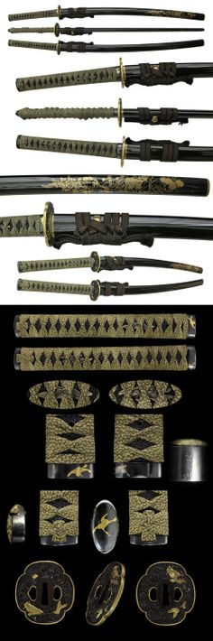 cherrytreeinbloom Japanese Blades, Japanese Sword, Swords And Daggers, Knives And Swords, Samurai Swords Katana, Armas Ninja, Cool Swords, Sword Design, Medieval Weapons