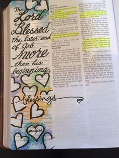 Job 42:12 God blessed Job Scripture Journal Bible Art