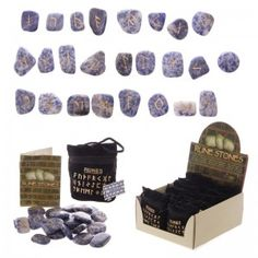 Gemstone Rune Stones; Accent Stone, Path, Marker buy handmade UK | sell handmade UK | UK marketplace | Shopsie http://www.shopsie.co.uk/product/toys-games-hobbies-pastimes/gemstone-rune-stones-accent-stone-path-marker/