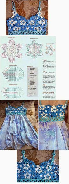 Grace y todo en Crochet: CANESU DE FLORES.... FLOWERS TOP...