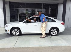 Octavia Watson, the newest member of our Butch Oustalet Chevrolet Cadillac family, is super excited about her brand new 2015 Chevrolet Cruze. We are so excited for her! We love to see smiles on our customer's faces! She really appreciates everything her sales consultant, Kevin Randolph, did to help her get her new car! She couldn't wait to drive it home. Click the link below to see our You Tube video of Octavia talking about her new car. http://youtu.be/yKmRSEb2DLg
