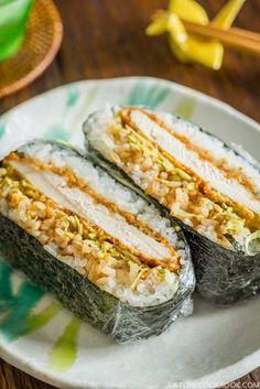 Chicken Katsu Onigirazu チキンカツおにぎらず • Just One Cookbook Meat Recipes, Asian Recipes, Cooking Recipes, Chicken Recipes, Game Recipes, Vietnamese Recipes, Chinese Recipes, Mexican Recipes, Recipes Dinner