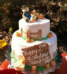 Fall themed birthday cake
