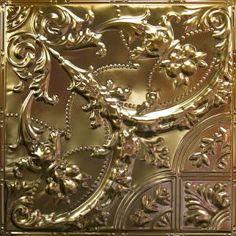 Metallic Gold Metal Ceiling Tile AT 9 #Tin # Ceiling # Drop# Ceiling# Metal #Ceiling #Tin #Tiles #Metallic