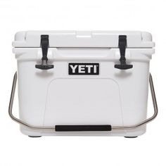 "YETI Roadie 20 Cooler: Chef Bryan Caswell, an ardent angler remarks, ""You can keep a Yeti in the sun for 10 days, but it will stay cold. It's amazing."" #fathersday #giftideas #Luvo"