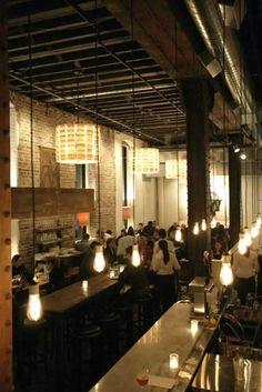 Restaurant Interior Lighting Design of Salt House, San Francisco