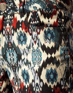 Zara Navajo Print Trousers | eBay