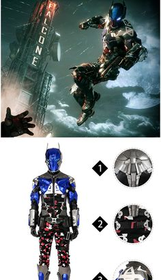 Quality Batman Costume Arkham Knight Costume Arkham Knight Costume, Batman Cosplay Costume, Anime Costumes, Movie Costumes, Cosplay Costumes, Red Hood, Nightwing, Costume Design, In The Heights