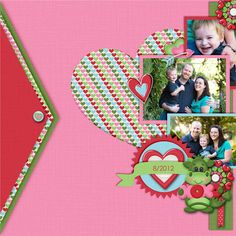 #papercraft #scrapbook #layout I like the triangle on the edge!!