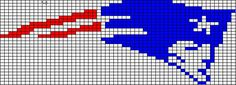 ChemKnits: New England Patriots Logo Knitting Charts - large size.  27 stitches high by 56 stitches wide.