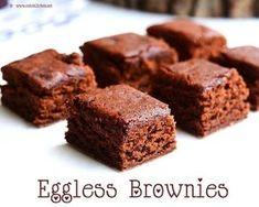 Eggless Brownie Recipe, Eggless Desserts, Eggless Baking, Brownie Recipes, Easy Desserts, Dessert Recipes, Eggless Recipes, Healthy Cake Recipes, Donut Recipes
