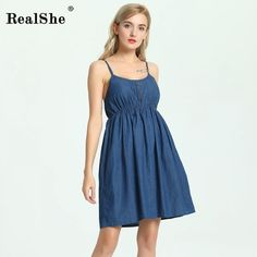 400b087cc31b3 RealShe Women Summer Dress 2018 Woman Sleeveless Floral Print Beach Mini  Spaghetti Strap Dress Woman Sexy Boho Dress Vestidos