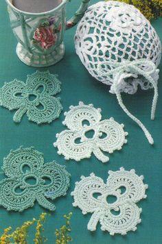 IRISH COASTERS & LACE BAG,  LADY'S SHRUG crochet patterns Evening Wear, Home picclick.com