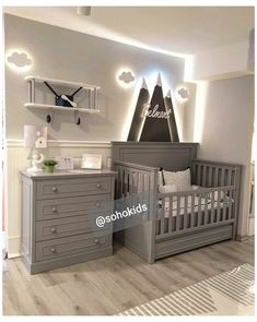 Baby Room Themes, Baby Boy Room Decor, Baby Room Design, Baby Bedroom, Baby Boy Rooms, Baby Boy Nurseries, Nursery Room, Gray Nursery Boy, Baby Room Ideas For Boys