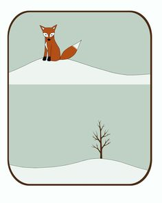 winter day print by katedurkin on Etsy, $25.00