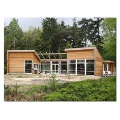 Living happy in a wooden house Wooden House, Log Homes, Bungalow, Sustainability, Tiny House, Beautiful Homes, Building A House, House Styles, House Architecture