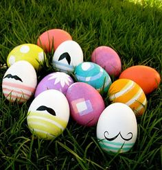 Super cute Easter Eggs with muchstaches