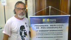 Jornalista e professor universitário Sérgio Barbosa durante seu doutorado, em Assuncion: de lá trouxe a motivação para a série Recuerdos del Paraguay, publicada no Siga Mais (Foto: Arquivo Pessoal).