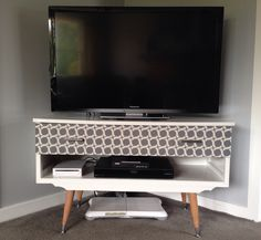 Recycled/Retro TV unit, made from an old dressing table!
