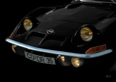 Opel GT in black & black