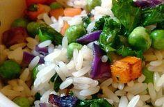 Receta de arroz tres delicias integral