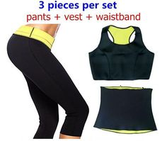 Neoprene Slimming Set ( Pants + vest + waistband )