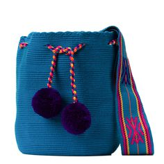 Tienda online de Bolsos Wayuu étnicos y artesanales en Madrid |Full Moonrise Cotton Bag, Cotton Thread, Fabric Drawing, Handmade Handbags, Hand Knitting, Bucket Bag, Weaving, Tapestry, Bag Patterns