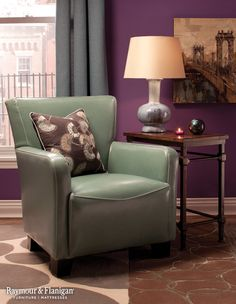 Dyed leather is a trend that's here to stay, and we love this accent chair's robin's egg hue. It's retro, yet modern, and it offers a great way to add in a pop of color without going overboard.