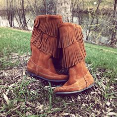 Minnetonka Moccasin 2-Layer Fringe boots - or use the Cole Haan's I already have!