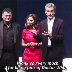 """Because he loves us as much as we love the Doctor. 