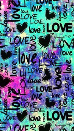 Punk love galaxy wallpaper i created for the app cocoppa. Unicornios Wallpaper, Cute Emoji Wallpaper, Heart Wallpaper, Cute Wallpaper Backgrounds, Tumblr Wallpaper, Cellphone Wallpaper, Pretty Wallpapers, Colorful Wallpaper, Aesthetic Iphone Wallpaper