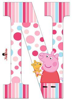 Peppa Pig Alphabet. Alfabeto de Peppa Pig con Perrito.: