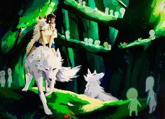 Princess Mononoke, Hayao Miyazaki, Animated Cartoons, Warrior Cats, Studio Ghibli, Cartoon Network, Animation, Painting, Games