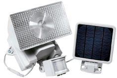 The Outdoor Solar-Powered Motion Activated Halogen Security Light By Maxsa Innovations is a great security and safety device for any home, garage, trailer home or apartment. Through out the day, the solar charge panel converts direct sunlight to electricity to charge the included 6 Volt battery inside the light saving you money on operating cost. The Security Light is very easy to install and no wiring is required...Learn More