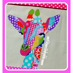 Boys :: Wild Giraffe Calico Applique Design