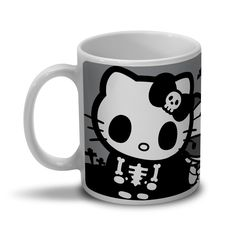 Caneca Hello Kitty - Skull
