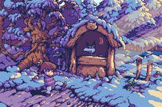 Pixel Undertale Pixel Art, Undertale Fanart, Undertale Au, Frisk, Comic Manga, Anime Manga, Pixel Art Games, Rpg Horror Games, Literature Club