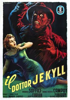 The Strange Case of the Man and the Beast (1951). Italian poster by Anselmo Ballester.