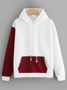 Sweatshirts white grey plain black crew neck sweatshirts romwe com Girls Fashion Clothes, Teen Fashion Outfits, Punk Fashion, Lolita Fashion, Fashion Dresses, Sweat Style, Stylish Hoodies, Diy Hoodies, Hooded Sweatshirts