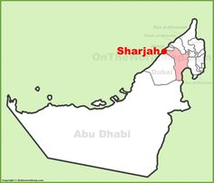 Sharjah city hotels and tourist attractions map Maps Pinterest