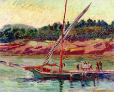 Boat on the River (Armand Guillaumin)